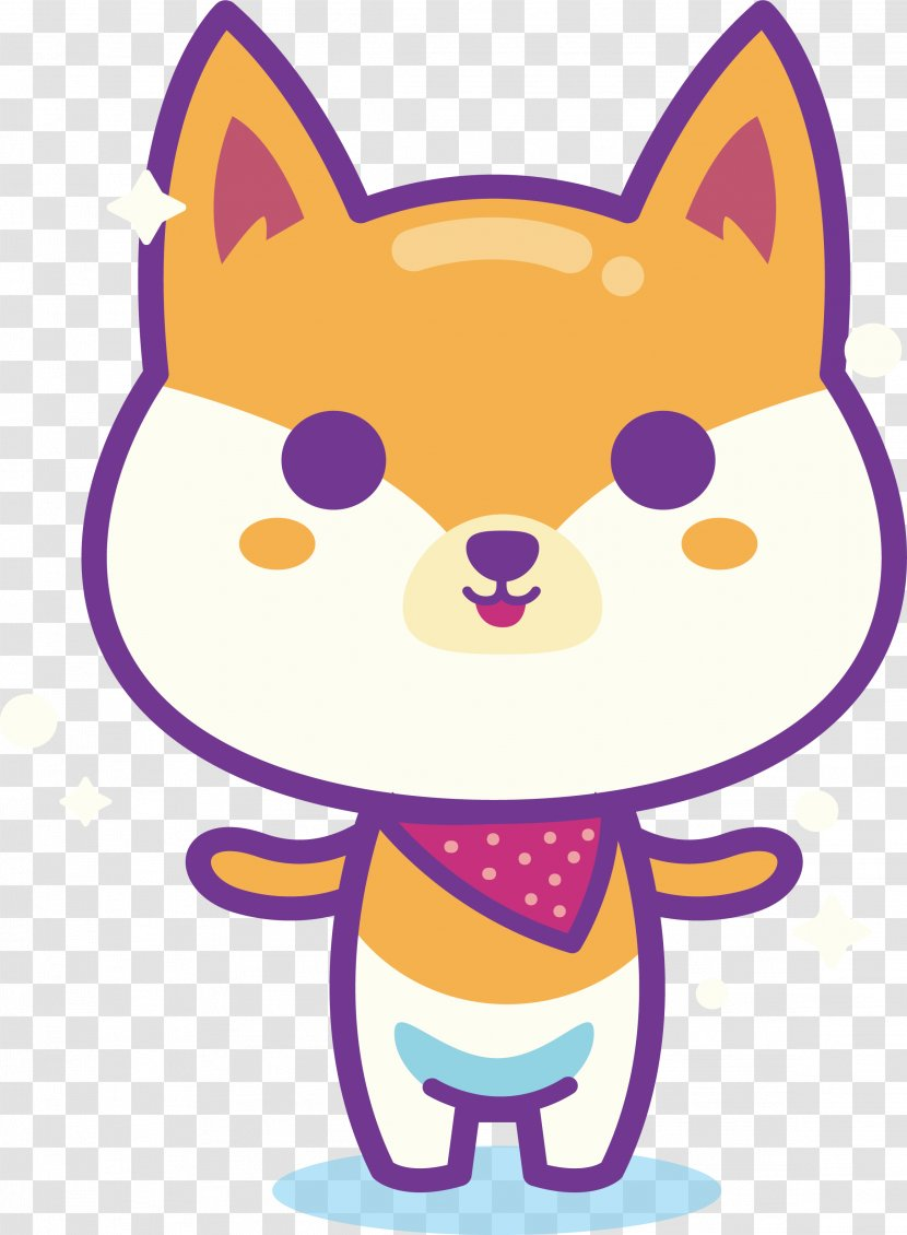 Shiba Inu Puppy Whiskers Cartoon Clip Art Drawing Cute Dog Transparent Png