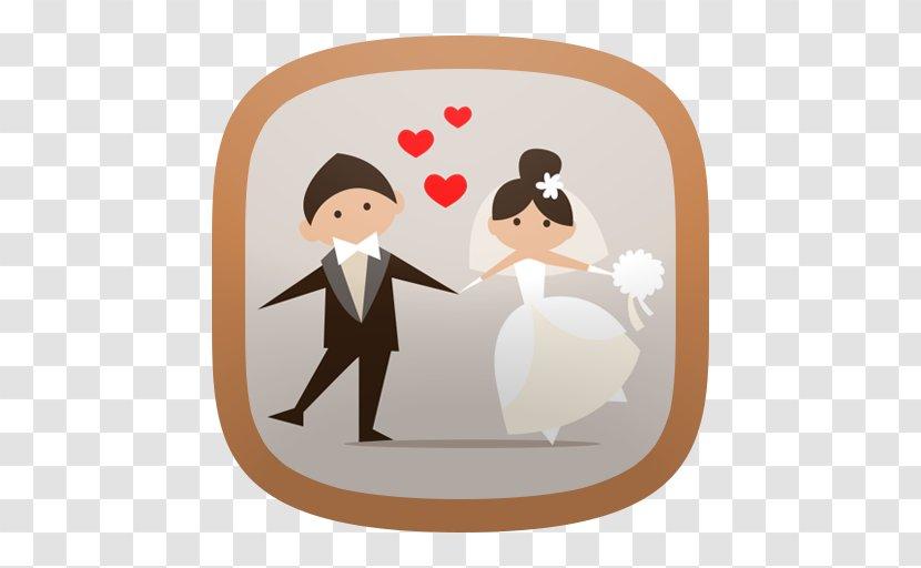 Bride And Groom Cartoon - Hindu Wedding - Romance Formal Wear Transparent PNG