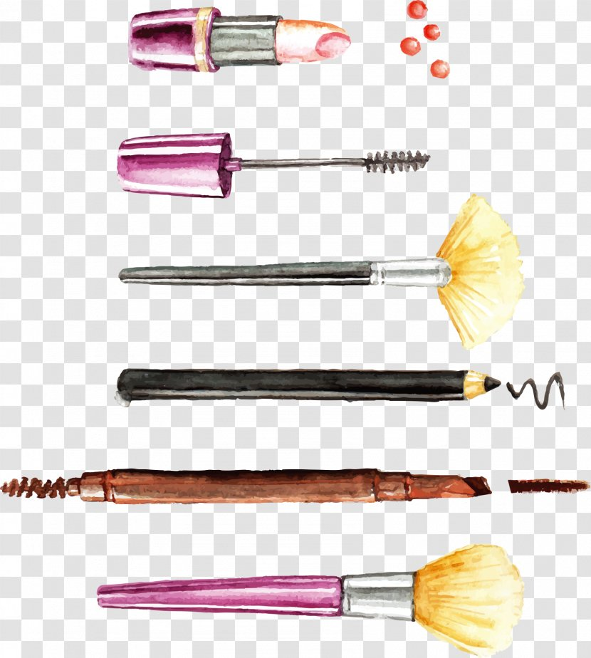 Cosmetics Make-up Makeup Brush Euclidean Vector - Element Painted Transparent PNG