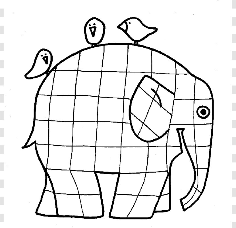 Elmer Fudd The Patchwork Elephant Coloring Book Page - African