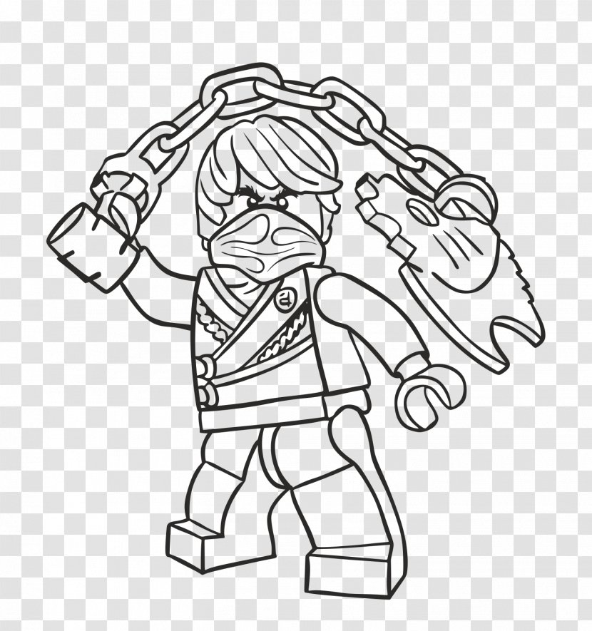 LEGO Ninjago Coloring Pages Drawing Book - Lego - Cole Transparent PNG