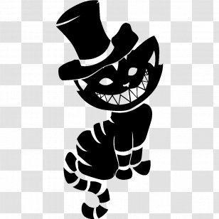 Cheshire Cat Mad Hatter Tattoo Kitten Mammal Transparent Png