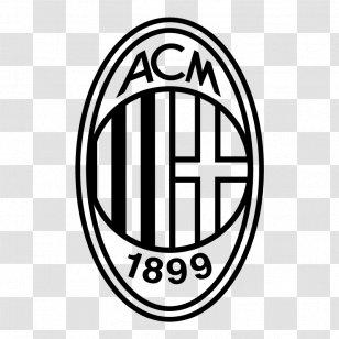 A C Milan Serie A Logo Uefa Champions League Sport Black And White Transparent Png
