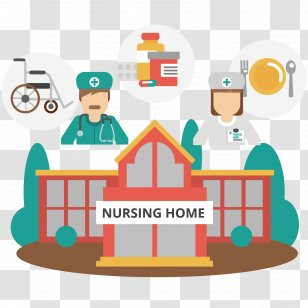 Nursing Home Care Old Age Service Clip Art Royaltyfree A Wheelchair In Between Two People Transparent Png
