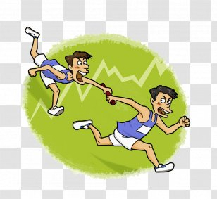 Relay racers passing the baton Royalty Free Vector Clip Art illustration  -vc000135-CoolCLIPS.com